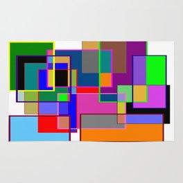 Colour collage white Rug