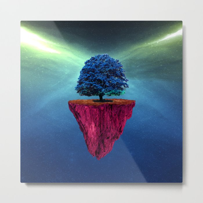 Tree of Space Metal Print