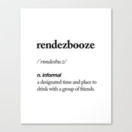 Rendezbooze black and white contemporary minimalism typography design home wall decor bedroom Canvas Print