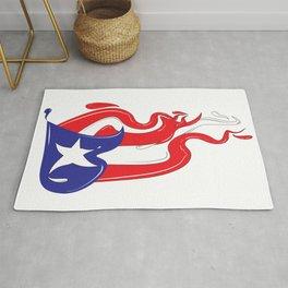 Puerto Rican Flag Splash Rug