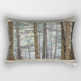 MISTY GOLDEN LIGHT IN A TOLKIENESQUE FOREST Rectangular Pillow