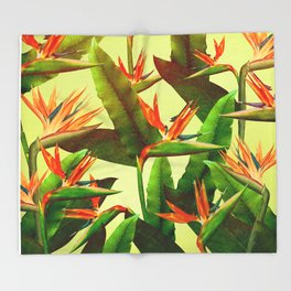 Birds of Paradise Throw Blanket
