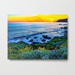 Coastal Bloom Metal Print