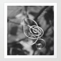 Spinning Branch Art Print