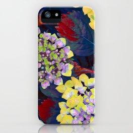 Hydrangea Yellow iPhone Case