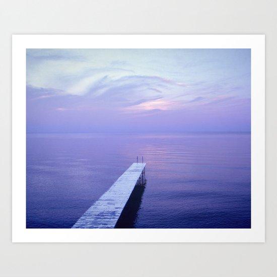Long Dock Coastal Potography Art Print