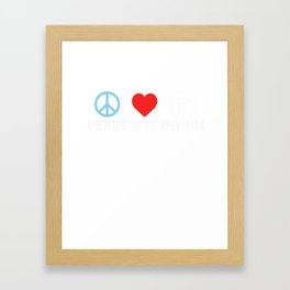 Peace Love Krav Maga - Funny Israeli Martial Art Framed Art Print
