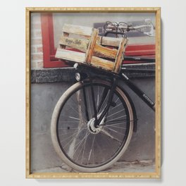 Bicycle, Wood Crate Serving Tray