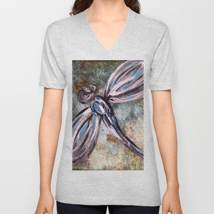 Rustic Dragonfly Art Unisex V-Neck