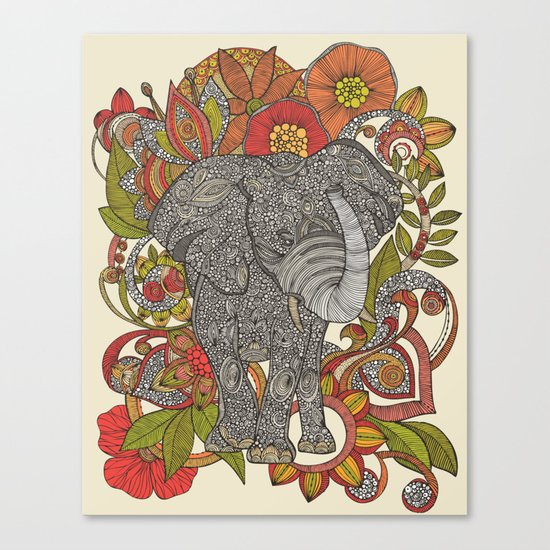 Bo the elephant Canvas Print