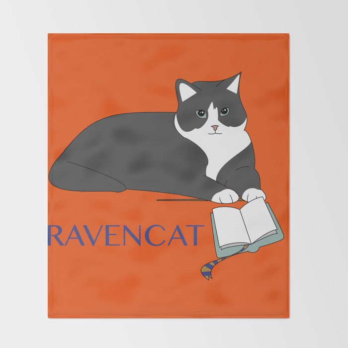 Ravencat Throw Blanket