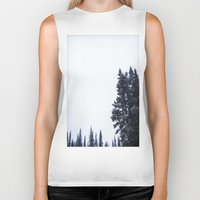 skiing Biker Tanks featuring Skiing Copper by Amelia Vilona