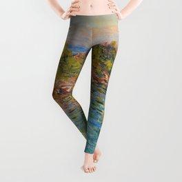 "Claude Monet ""Landscape near Montecarlo"" Leggings"
