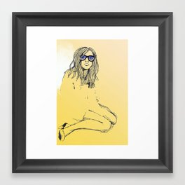 Slouch deux - restrained Framed Art Print
