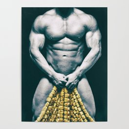 Draped Male Nude - Distressed Treatment (001) Poster