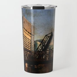 Chicago Skyline Chicago River Drawbridge Travel Mug