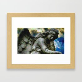 Geometric Angel Statue Framed Art Print