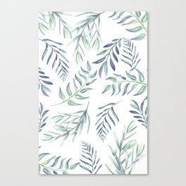 Floating Leaves Blue #society6 #buyart Canvas Print