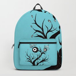 Weird Tree Monster Ink Drawing Backpack