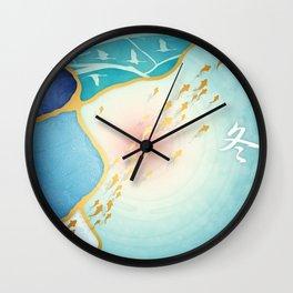 Kintsugi :: The Seasons ~ Winter Wall Clock