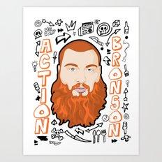Action Bronson Portrait 2 Art Print