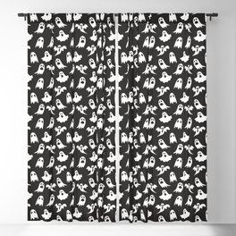 Ghosts on Black // Halloween Collection Blackout Curtain