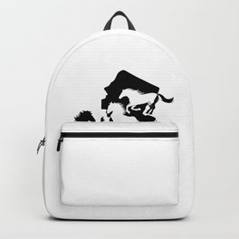 New Jersey State Horse Lover Black Backpack