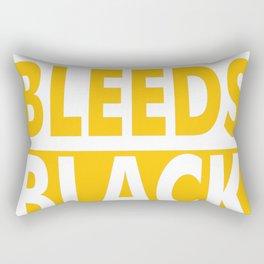 THIS NURSE BLEEDS BLACK & GOLD Rectangular Pillow