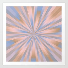 Iced Coffee Serenity Rose Quartz Pattern 3 Art Print