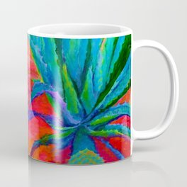 WESTERN MODERN ART OF BLUE AGAVES RED-TEAL Coffee Mug