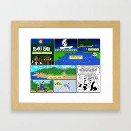 Spandex Panda - Comic 2 - Original Story Framed Art Print