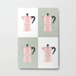 Mid-Century Coffee Pots Metal Print