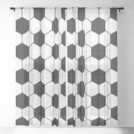 Soccer ball pattern Sheer Curtain