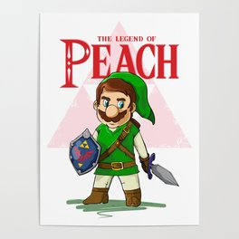 the legend of Peach Poster