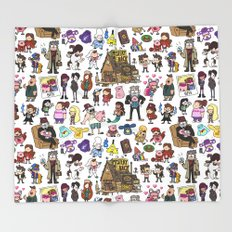 Cute Gravity Falls Doodle  Throw Blanket