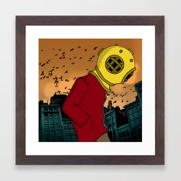 City Diving Framed Art Print