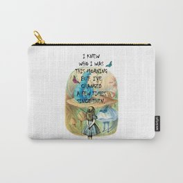 Alice In Wonderland Quote Carry-All Pouch
