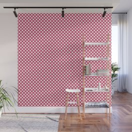 Honeysuckle and White Polka Dots Wall Mural