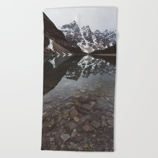 Moraine Lake #society6 #buyart Beach Towel