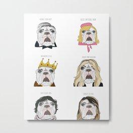 Celebrity Dogs Metal Print