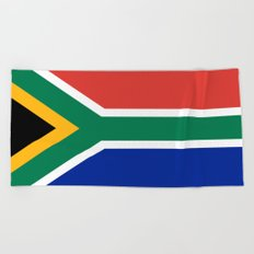 South African flag - high quality image Beach Towel