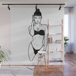 Bella Hadid (white) Wall Mural