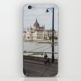 Bicycle in front of the Hungarian Parliament iPhone Skin