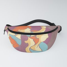 Feminism Wins - Watercolor Soft Colors Fanny Pack