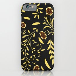 Floral pattern with flowers and leaves hohloma style  iPhone Case