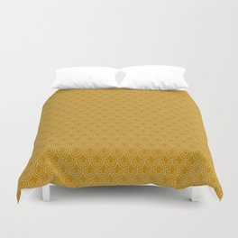 Dotted Scallop in Gold Duvet Cover