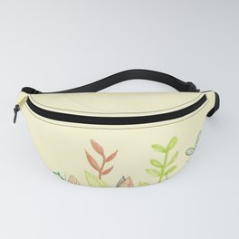 Plants and moon Fanny Pack