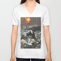 lights V-neck T-shirts featuring Lights by Sarah Eisenlohr