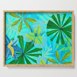 My blue abstract Aloha Tropical Jungle Garden Serving Tray