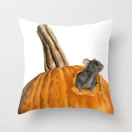 The Pumpkin Carver Throw Pillow